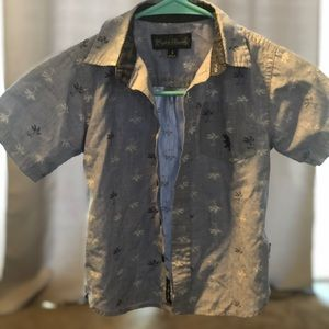 Adorable Button Up Palm Tree Shirt for Boys